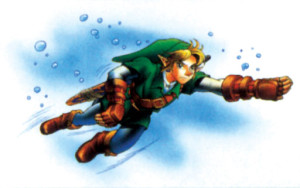 I don't think anyone swims like this, Link.