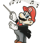 Mario conducting music